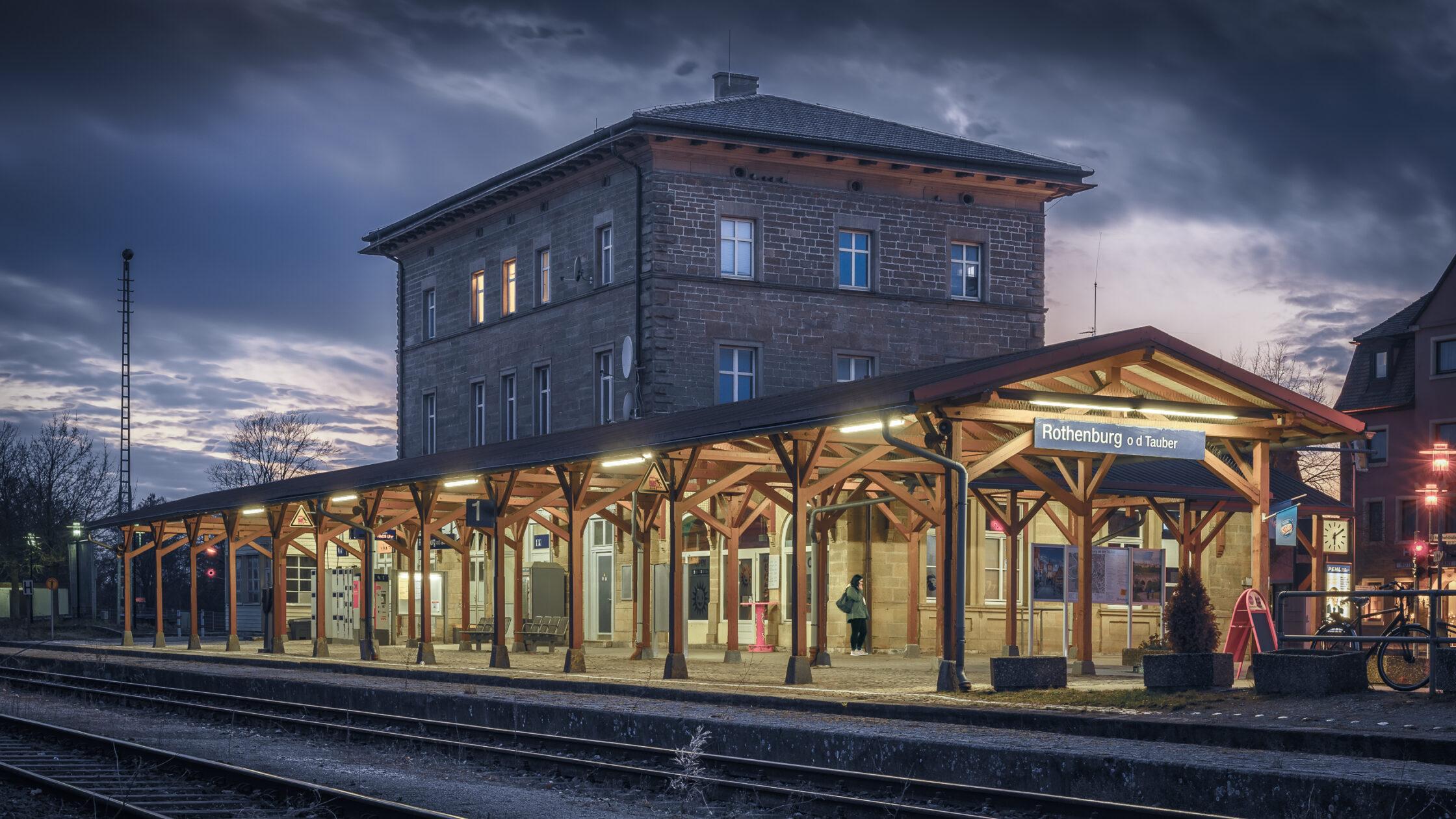 Bahnhof Rothenburg ob der Tauber / 20190219180934