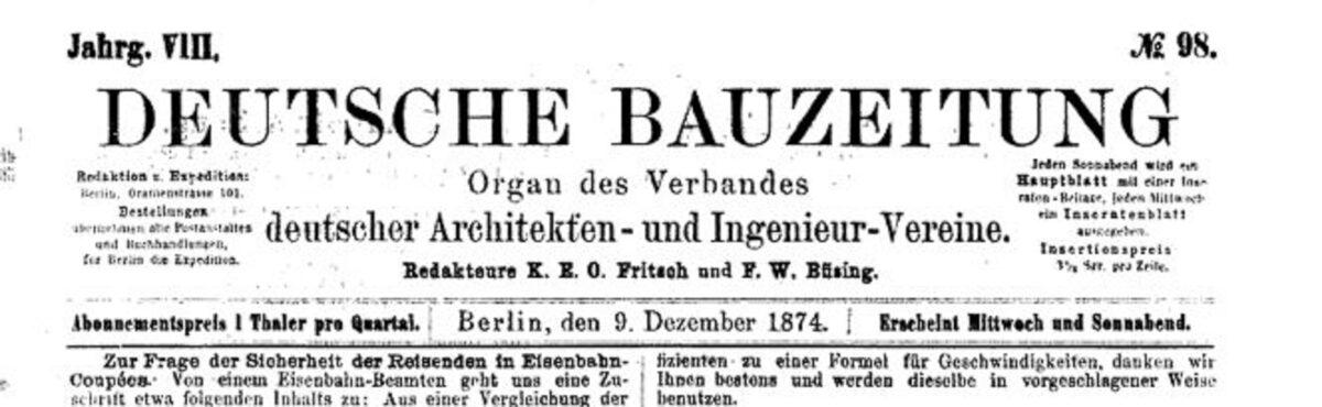 Deutsche Bauzeitung 09.12.1874 A / 20200308183406