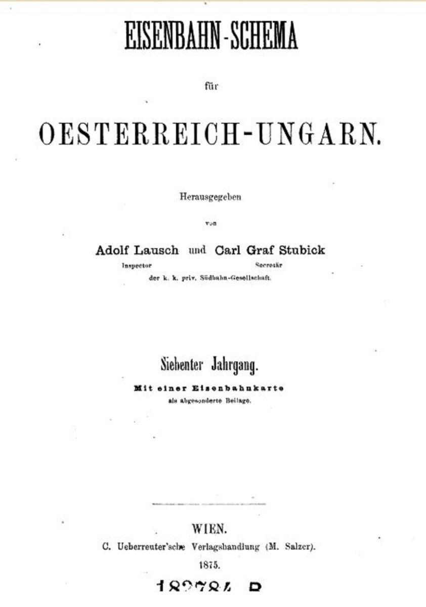 Eisenbahn Schema Österreich Ungarn 1875 A / 20200308183409