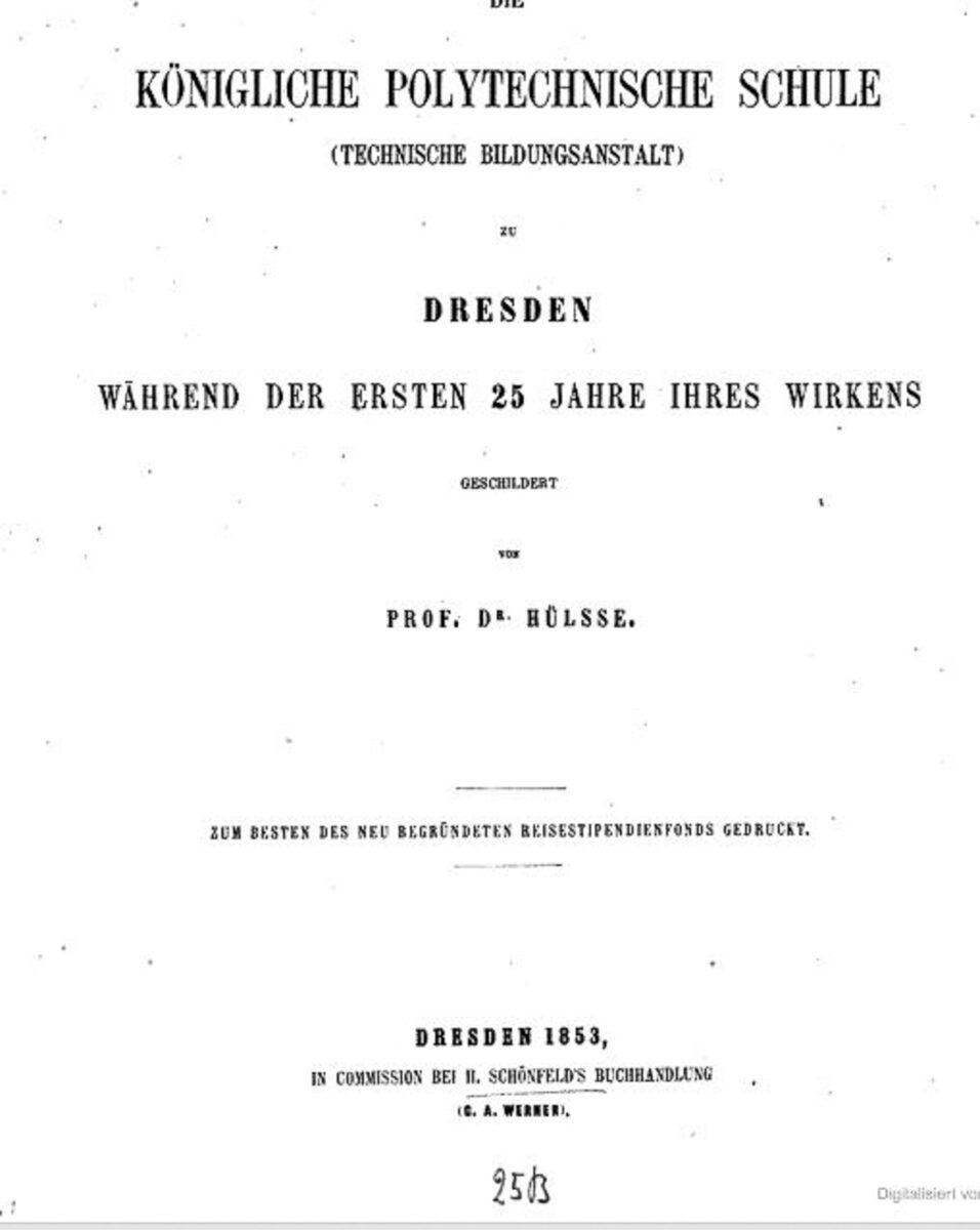 Königliche Polytechnische Schule Dresden 1853 A / 20200308183413