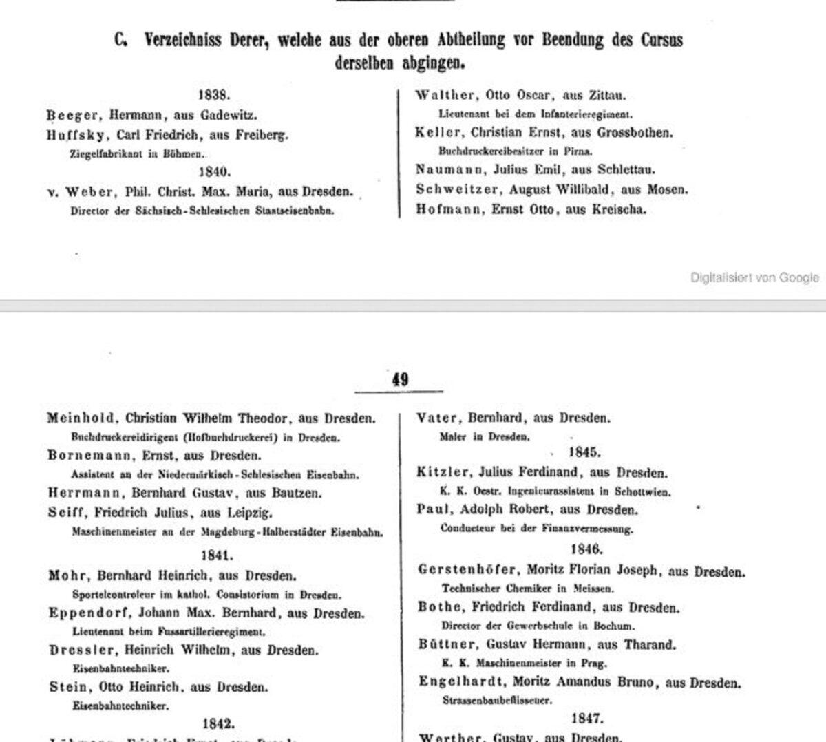 Königliche Polytechnische Schule Dresden 1853 C / 20200308183415