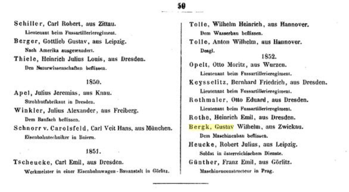 Königliche Polytechnische Schule Dresden 1853 D / 20200308183416