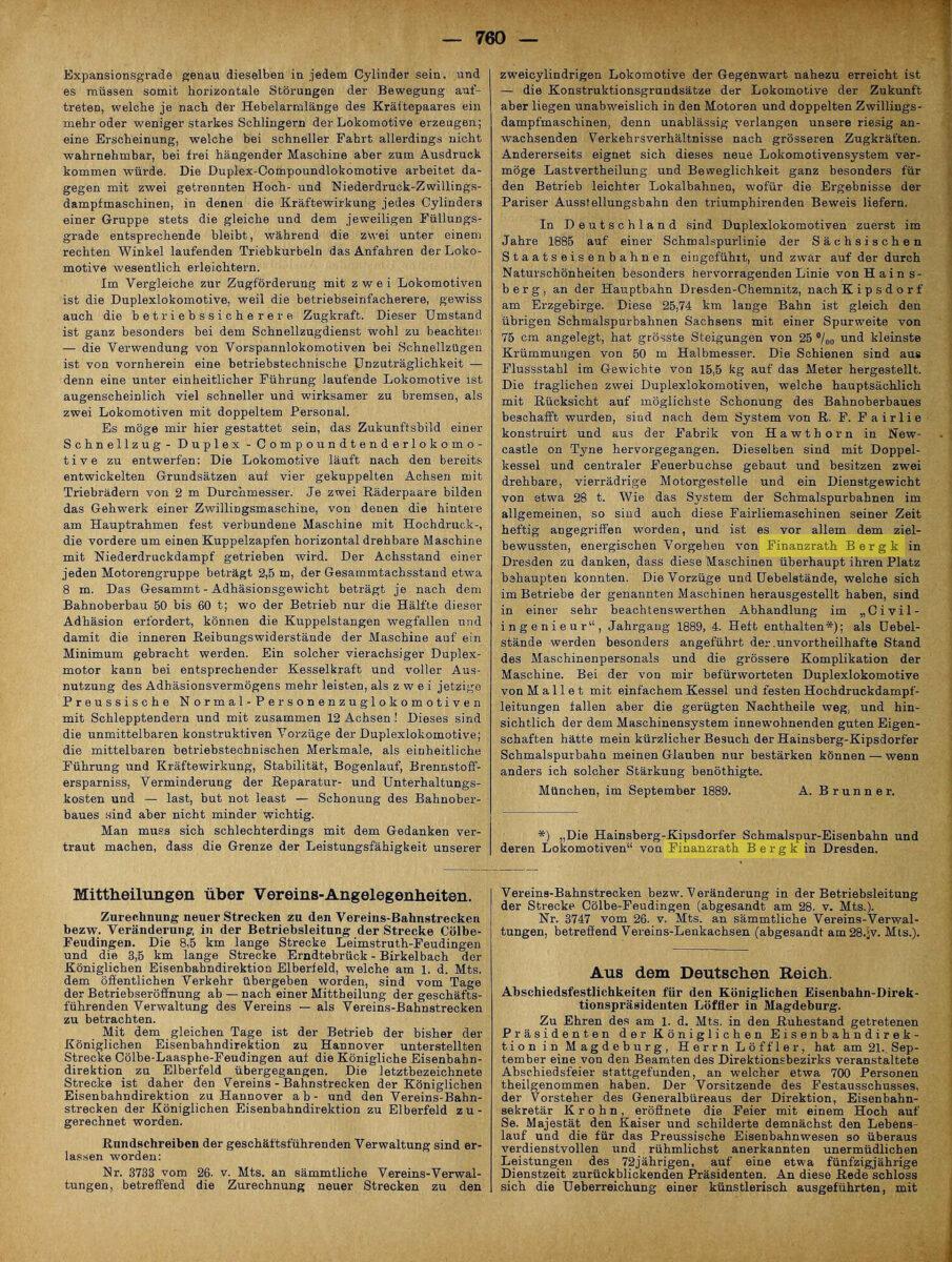Zeitung Deutscher Eisenbahn Verwaltungen 1889 / 20200308183422