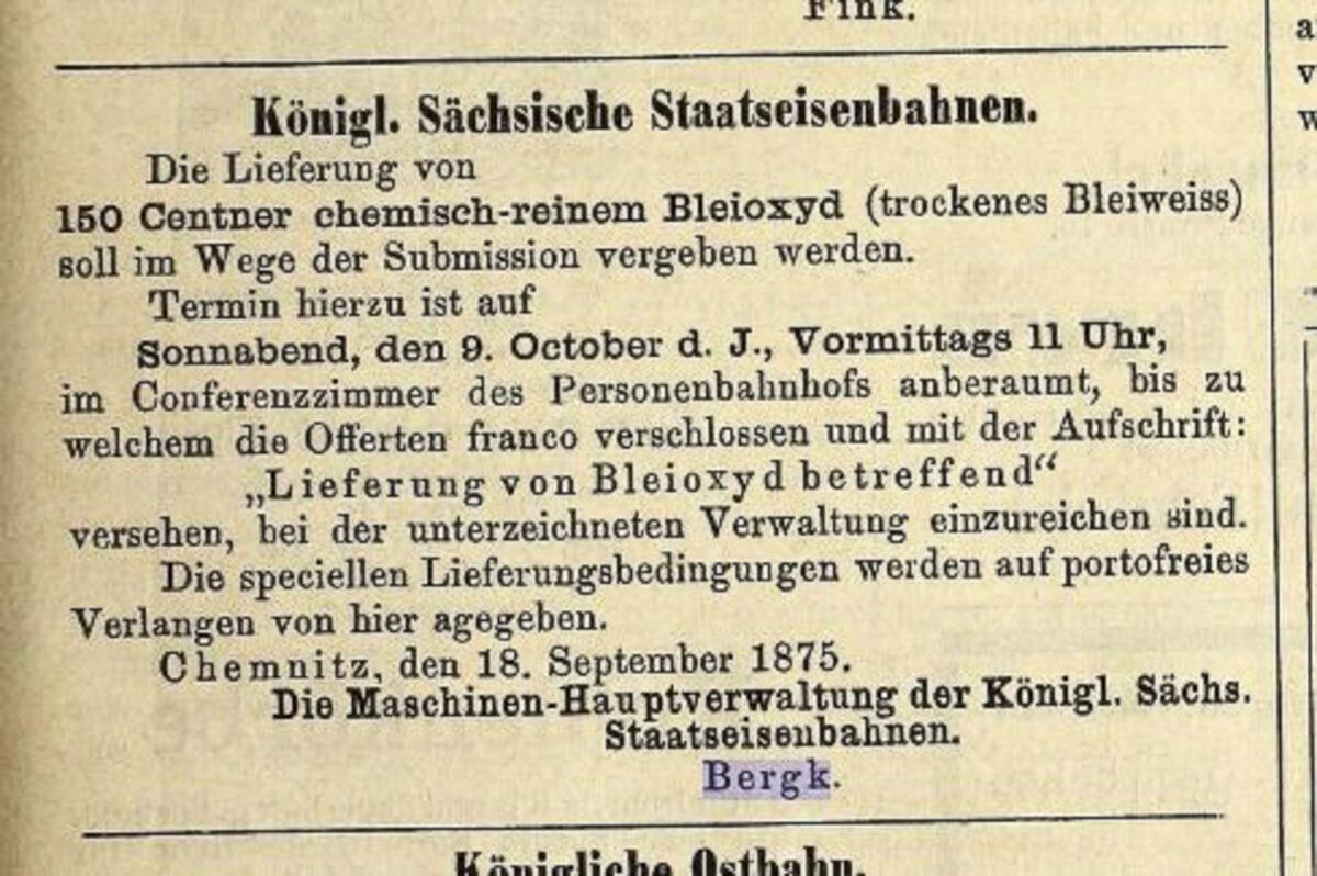 Zeitung des Vereins Deutscher Eisenbahn Verwaltungen 02.07.1875 D / 20200308183434