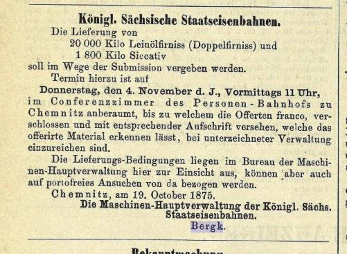 Zeitung des Vereins Deutscher Eisenbahn Verwaltungen 02.07.1875 E / 20200308183435