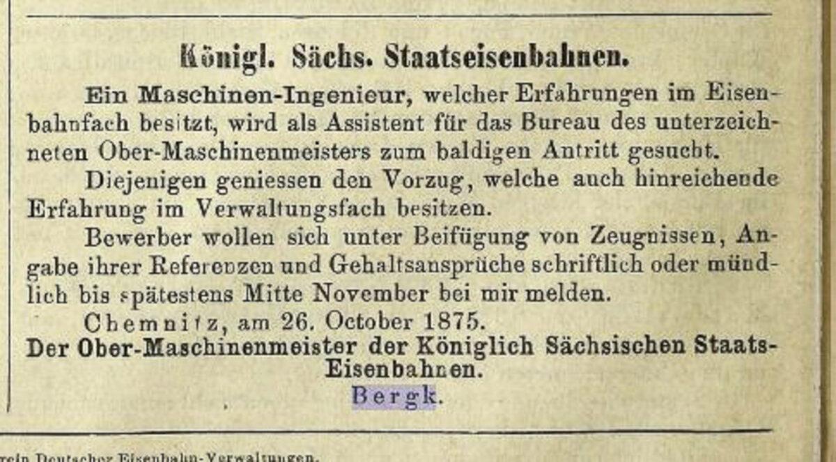 Zeitung des Vereins Deutscher Eisenbahn Verwaltungen 02.07.1875 F / 20200308183436