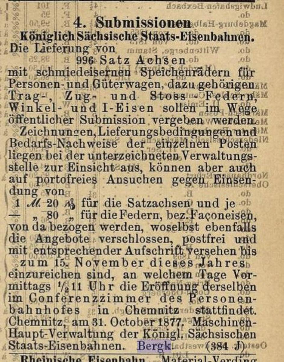 Zeitung des Vereins Deutscher Eisenbahn Verwaltungen 02.07.1877 E / 20200308183446