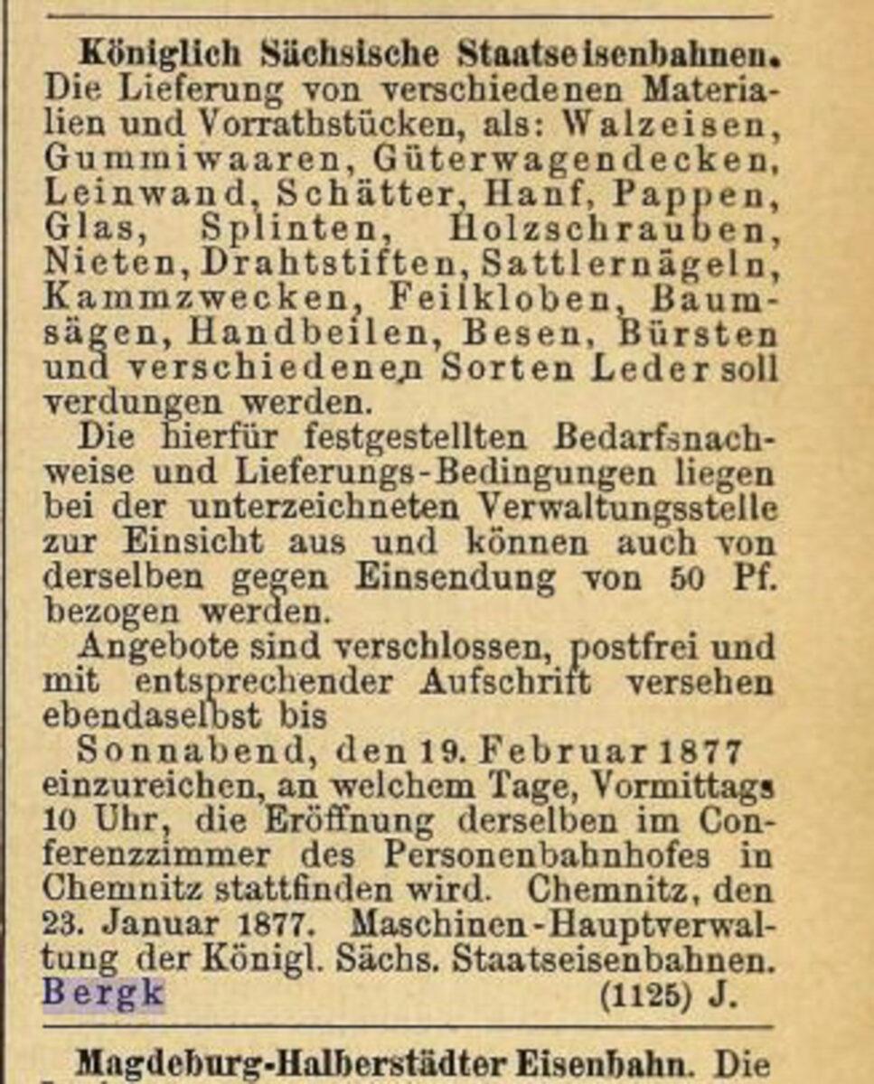 Zeitung des Vereins Deutscher Eisenbahn Verwaltungen 02.07.1877 F / 20200308183447
